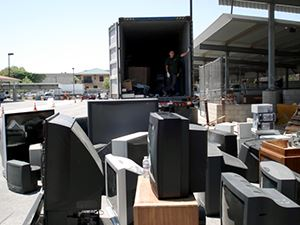 Electronic Waste about to be loaded onto truck