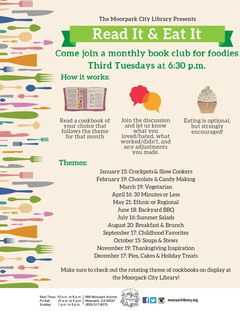 Read It & Eat It: Cookbook Discussion Club