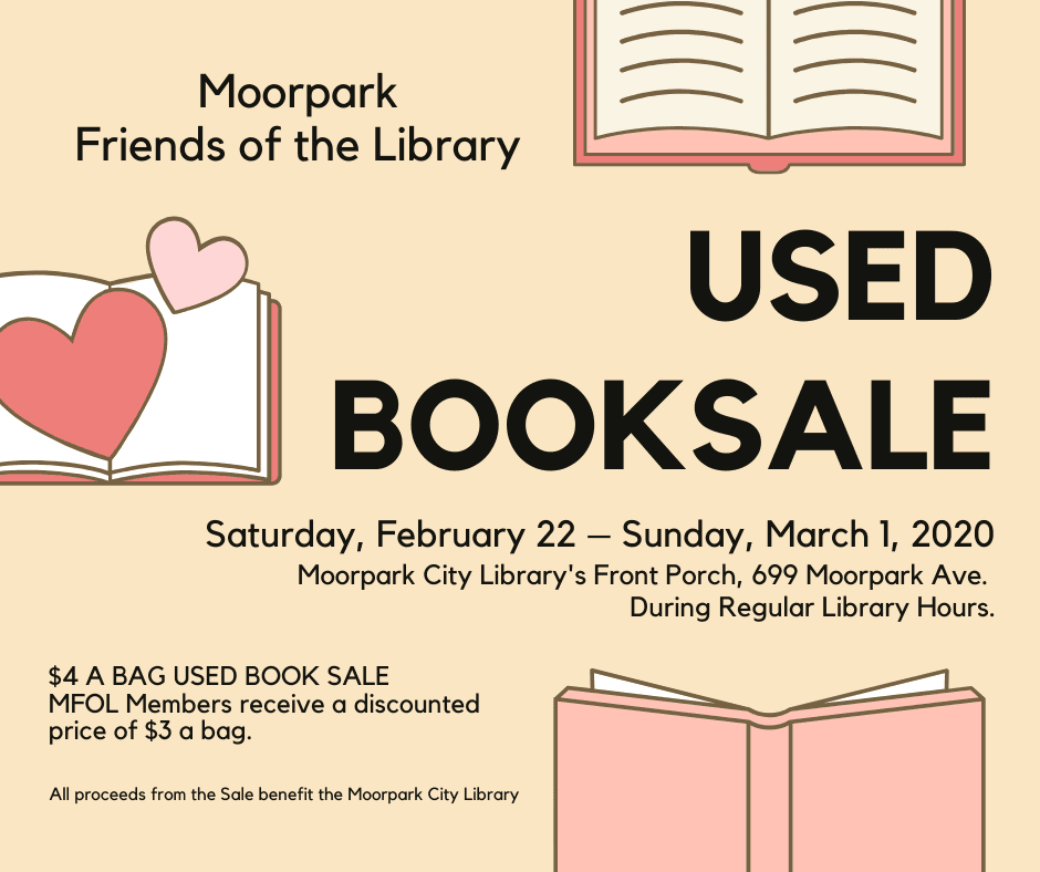 Moorpark Friends of the Library booksale flyer