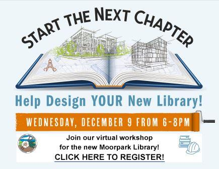 New Library Community Workshop December 9 @ 6 p.m. Registration Opens in new window