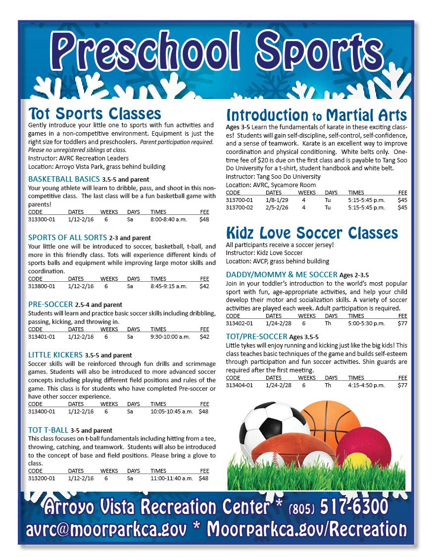 Preschool Sports Classes