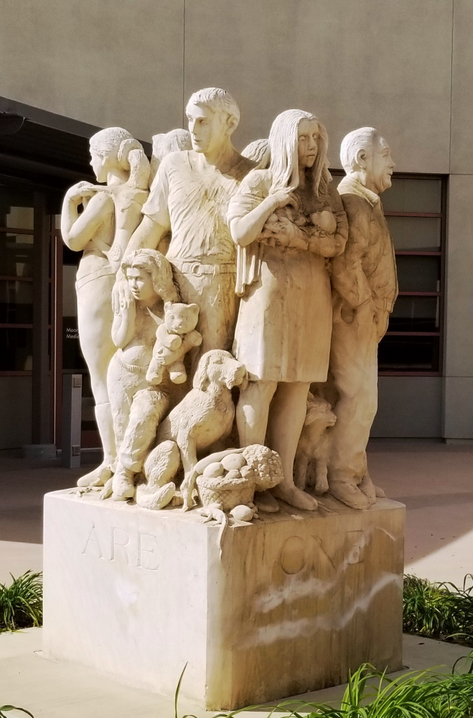 We Are One Family Sculpture At Ruben Castro Human Services Center