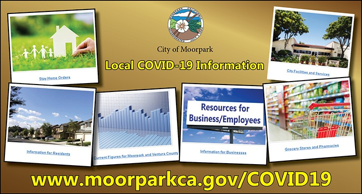 Local COVID-19 Information at www.moorparkca.gov/COVID19
