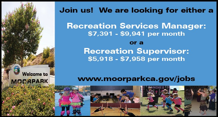 Recreation Services Manager or Recreation Supervisor Opening at the City of Moorpark