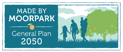 Logo for General Plan Update with Tagline Made by Moorpark