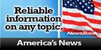 American Flag with text saying America's News: Reliable Information on any topic