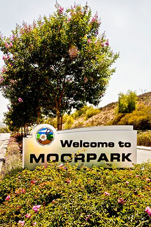 Welcome to Moorpark Street Sign