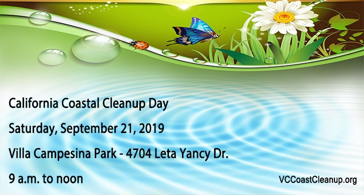 2019 California Coastal Cleanup Day is September 21st meeting at Leta Yancy Park