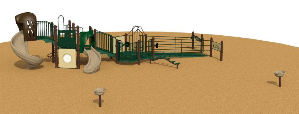 Glenwood Park Small Play Structure Side View