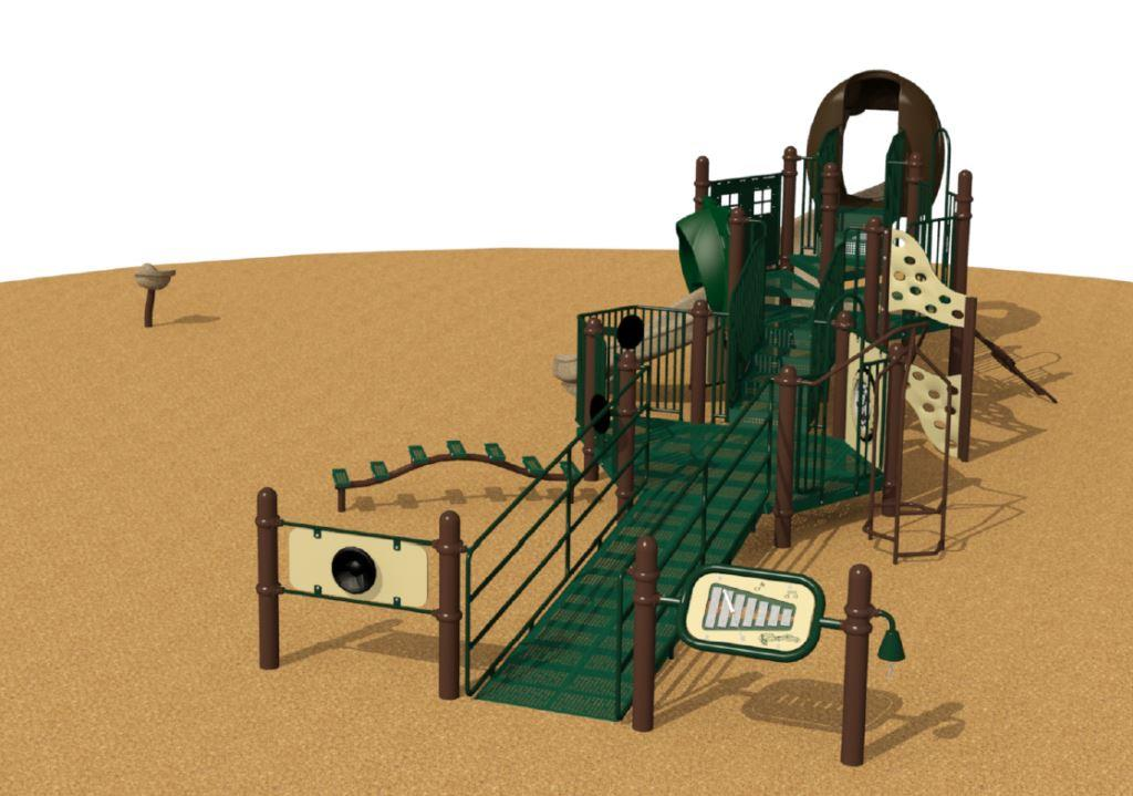 Glenwood Park Small Play Structure Front View