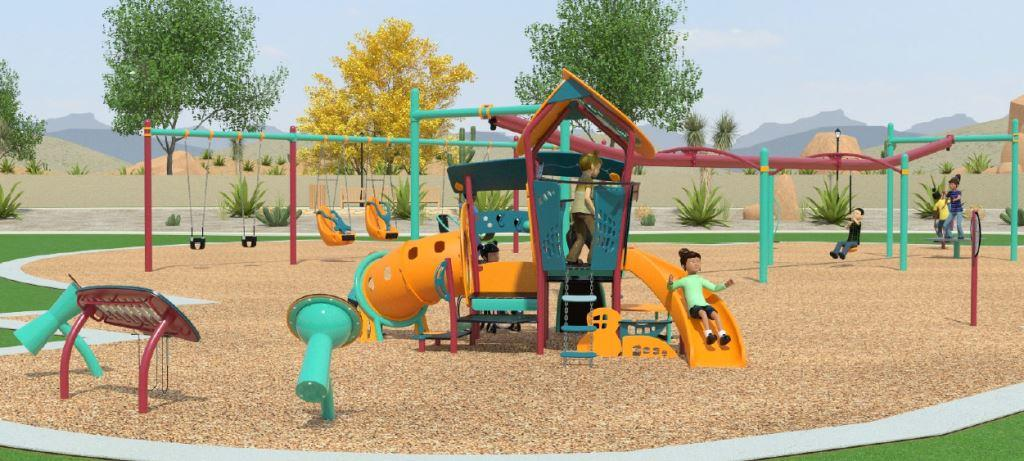 Miller Park Small Play Structure Diagram