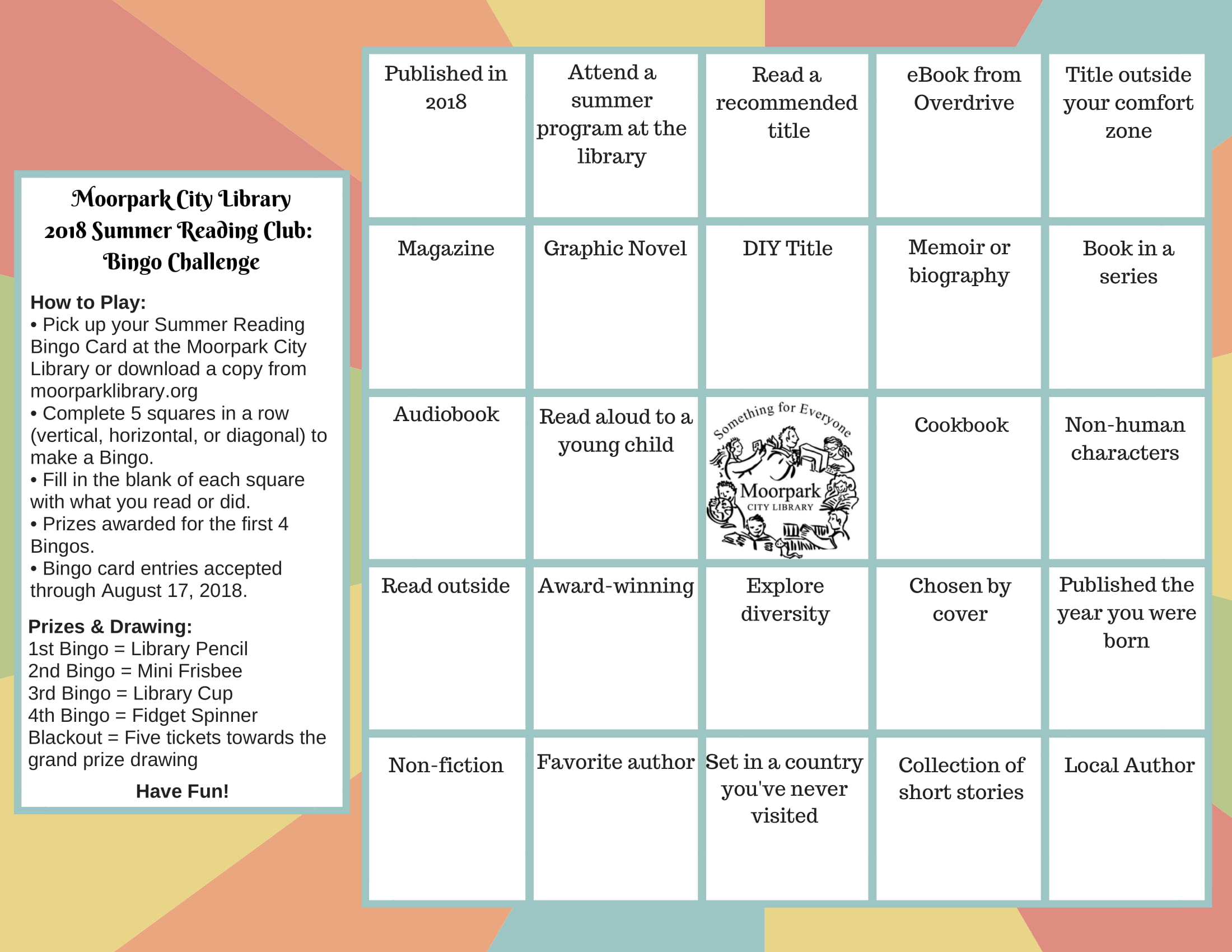 Adult Summer Reading Bingo-1