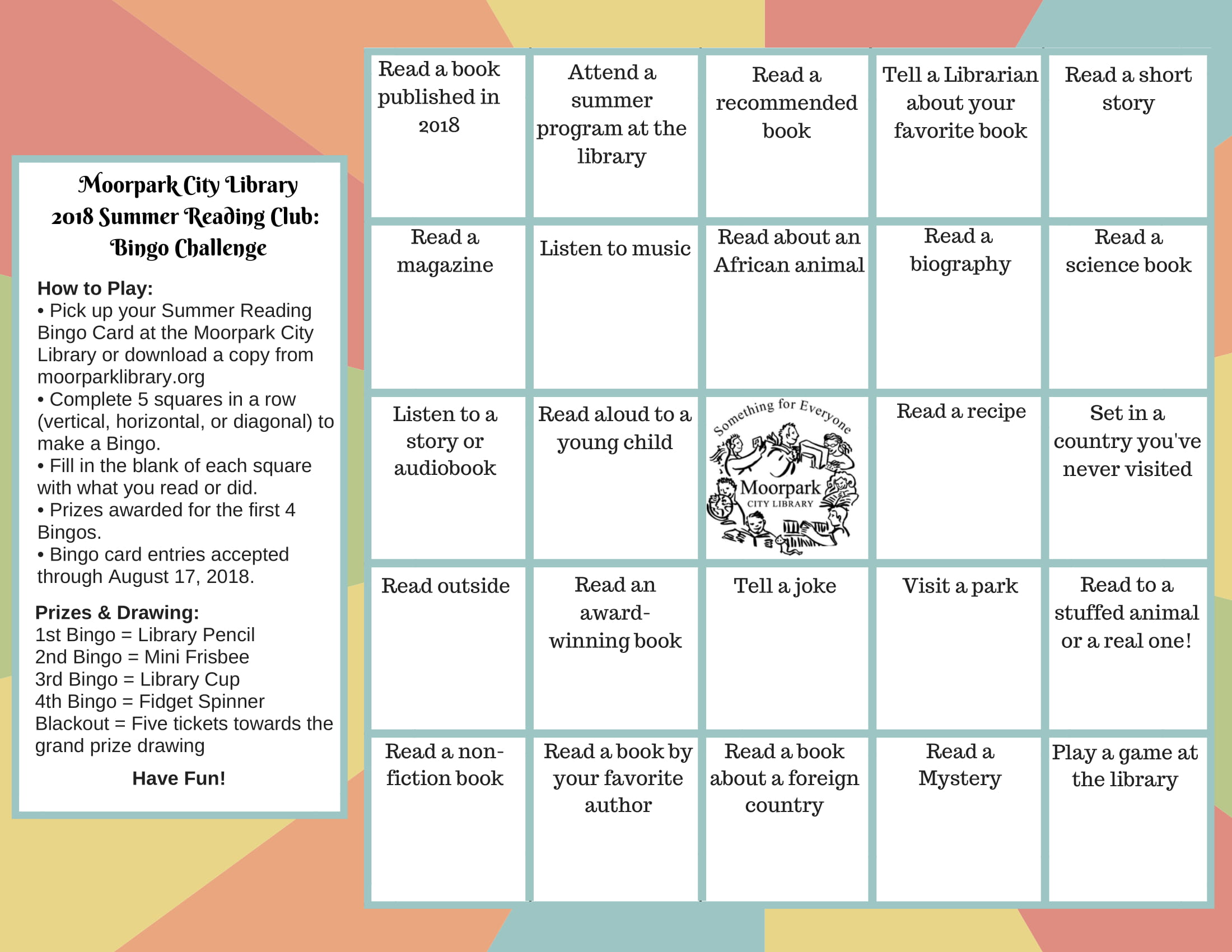 Children Summer Reading Bingo Challenge-1