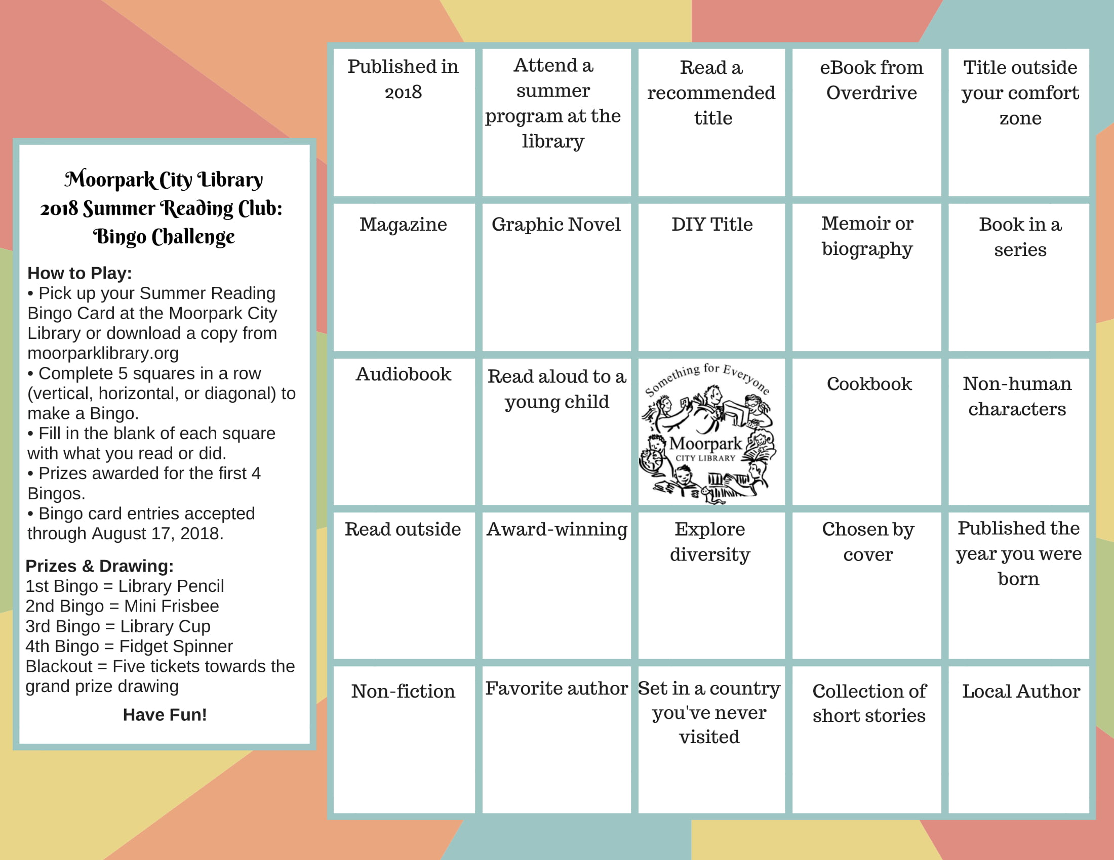 Teen Summer Reading Bingo Challenge-1